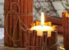 Mille idee casa: Porta-candele al profumo di cannella