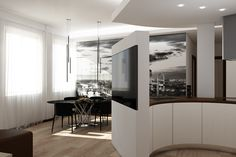 Apartment renovation in Florence, render for various project ideas Round Kitchen, Apartment Renovation, Hotel Interiors, Building A House, Beautiful Homes, Buildings, Hotels, House Design, Furniture