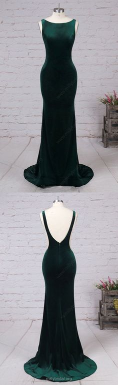 Green Prom Dresses,Long Prom Dresses,2018 Prom Dresses For Teens,Trumpet/Mermaid Formal Evening Dresses Scoop Neck, Tulle Party Pageant Dresses Velvet #greendresses #dressesforteens ##womensfashion#dresses#borntowear#outfits