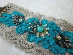 Turquoise Lace Cuff