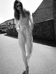 sports shoes f3638 43475 Tied waist White Jumpsuit, Casual Dresses, Casual Outfits, Summer Outfits,  Urban Photography