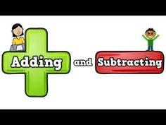 Adding and Subtracting (song for kids about addition/subtracting) - YouTube   This is helpful to play during independent seat work time!