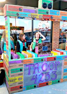 Girl Scout Cookie DJ Booth #blingyourbooth                                                                                                                                                      More