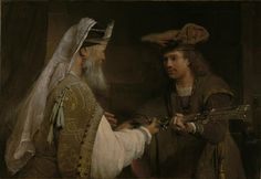 Ahimelech Giving the Sword of Goliath to David --Aert de Gelder --J. Paul Getty Museum - Los Angeles -- oil on canvas -- Painting Prints, Fine Art Prints, Canvas Prints, Baroque Painting, Baroque Art, Paintings Famous, Getty Museum, David, Bible Art