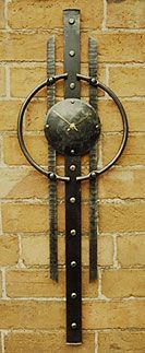 metal wall clock in celtic style