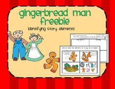 Gingerbread Man Story Elements freebie.