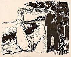 Edvard Munch   Lithograph   Løsrivelse I   1896