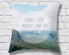 Donut Throw Pillow Typography Cushion Donut Forget by Camerallure