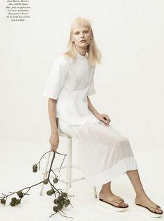 """The White Albume""   Henna Lintukangas by Georges Antoni for Harper's Bazaar Australia"