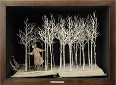 The art that is made with old books is simply amazing.