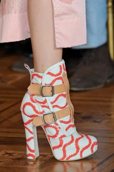 #VivienneWestwood Squiggle Print Boots #SS13 #PFW♥