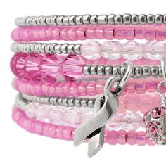In Honor Of Bracelet | Fusion Beads Inspiration Gallery #strawberryice #pantone