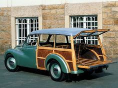 Bet you didn't expect to see 4 DKW Woodies. Car Photos, Car Pictures, Lemon Car, Morris Traveller, Vintage Cars, Antique Cars, Car Station, Morris Minor, Shooting Brake