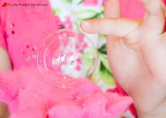 bouncing bubbles recipe - the bubble are strong enough to bounce on your hand. Fun!