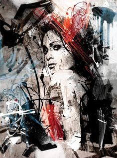 These illustrations by Australian portrait artist Joshua Miels feature complex and colorful compositions that are created from layer upon layer of a variety of media. Not limiting himself to one form of artistic creation, Miels prefers to combine classic painting styles, felt tip pen line illustrations, and modern digital technology to form these fantastic pieces bursting with energy.