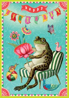 Responsive Sheffield Blue Zen Cart Template Happy Birthday Frog Greeting Card - Size x with a fine glitter finish. All greeting card material is sourced from sustainable forests. Happy Birthday Frog, Happy Birthday Images, Birthday Pictures, Birthday Wishes Greeting Cards, Happy Birthday Greetings, Birthday Message For Friend, Birthday Stuff, Happy Birthday Illustration, Birthday Blessings