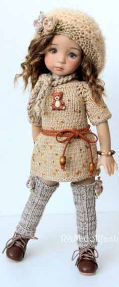 ideas crochet doll clothes american girl pictures for 2019 Crochet Doll Clothes, Knitted Dolls, Girl Doll Clothes, Doll Clothes Patterns, Girl Dolls, Diy Clothes, Pretty Dolls, Beautiful Dolls, Boy Crochet Patterns
