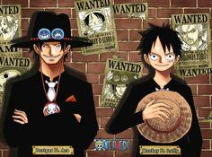 "⚓ { ✄ Collage ""Logo : One Piece"" • ""Noms/Prénoms : Ace ⭐ Luffy"" part : ✎_LølY_✍ } ⚓ ~ ⭐ Série Manga Anime et Tome : One Piece ⭐ ~"