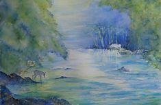 Stilte Watercolor, Painting, Art, Pen And Wash, Art Background, Watercolor Painting, Painting Art, Kunst, Watercolour