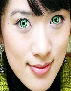 Halloween Lenses for Green Eyes Zombie.  ====== Get this lenses @ http://www.uniqso.com/geo-sf17 @ $25.90 only.  ====== #CrazyLenses #HalloweenLenses #HalloweenCostume #HalloweenMakeup