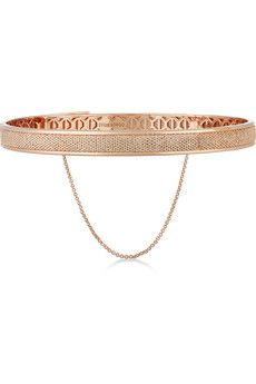 Eddie Borgo Pavé Safety Chain rose gold-plated cubic zirconia choker  | NET-A-PORTER