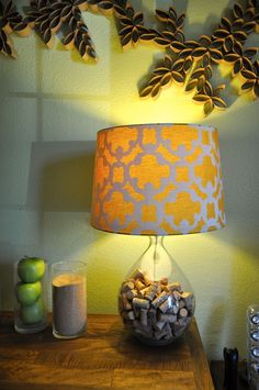 great idea for empty lamp base & all of those wine corks... courtesy of anthromollogies.com