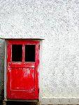 Red Door White Wall