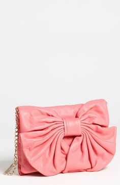 Bow! Pink! Bring me back to 20s  RED Valentino 'Bow' Leather Clutch available at #Nordstrom