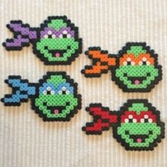 TMNT hama beads by ditaksaras
