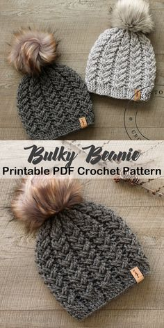 Make a cozy hat. bulky hat crochet patterns- winter hat crochet pattern- amorecr… Make a cozy hat. bulky hat crochet patterns- winter hat crochet pattern- amorecr…,Gehäkelte Mütze Make a cozy hat. Bonnet Crochet, Crochet Beanie Pattern, Crochet Crafts, Crochet Yarn, Free Crochet Hat Patterns, Chunky Crochet Hat, Crochet Winter Hats, Afghan Crochet, Baby Beanie Crochet Pattern