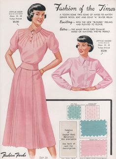 Fashion Frocks for 1950
