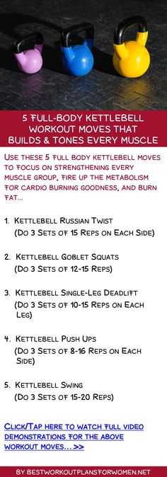 5 full-body kettlebell workout moves that builds & tones every muscle