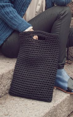 Single Crochet Tote: #Crochet Inspiration, (sorry, no pattern)