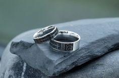 Buy Ogham Wedding Ring on your Irish Jewelry eshop Irish Jewelry, Rings For Men, Wedding Rings, Engagement Rings, Stone, Stuff To Buy, Enagement Rings, Men Rings, Rock