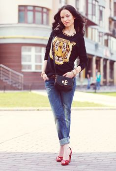 30 Fashionable Combination With Trendy Jeans