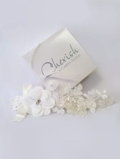 Skyla Headband by Cherish by Carita Adams. Girls Dresses, Flower Girl Dresses, Wedding Headband, Special Occasion Dresses, Floral Lace, Girl Birthday, Delicate, Hair Accessories, Dresses Of Girls