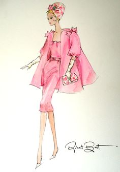 Robert Best sketch of Silkstone Barbie Luncheon Ensemble  2013 BFMC