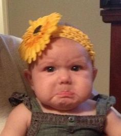 Baby Ansley and her pouty face picture!