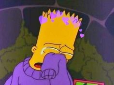 simpsons traurig from Simpson Wallpaper Iphone, Sad Wallpaper, Emoji Wallpaper, Tumblr Wallpaper, Trendy Wallpaper, Lisa Simpson, Bart Simpson Tumblr, Bart Simpson Drawing, Simpson Wave