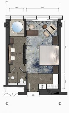 Langham Place Changsha #hotel #hotel #planos Design Hotel, Hotel Design Architecture, House Design, Master Bedroom Plans, Bedroom Floor Plans, Bathroom Plans, Hotel Floor Plan, Room Design Bedroom, Hotel Apartment