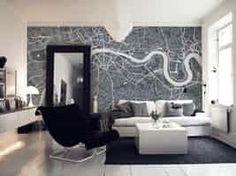 London city map wall mural | Photo wallpaper | Happywall