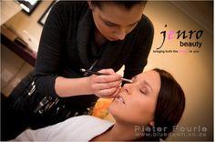 jenrobeauty / www.jenrobeauty.co.za. Behind the scenes, wedding makeup. #bridal #makeup #lashes #mac #jenrobeauty #glamsquad #jenroteam #weddings