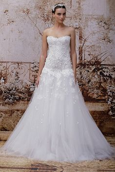 Stunning Monique Lhuillier Wedding Dress Collection FW 2014 - Bridal Musings Wedding Blog
