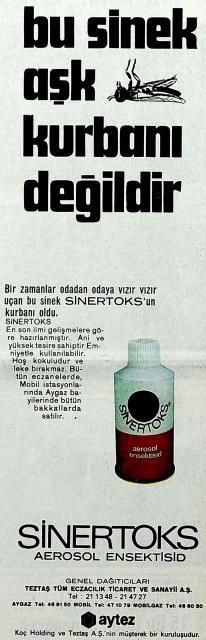 Bu sinek aşk kurbanı değildir! (Sinertoks, 1971) Old Advertisements, Advertising, Nostalgia, Old Ads, Once Upon A Time, Istanbul, Banner, History, Retro