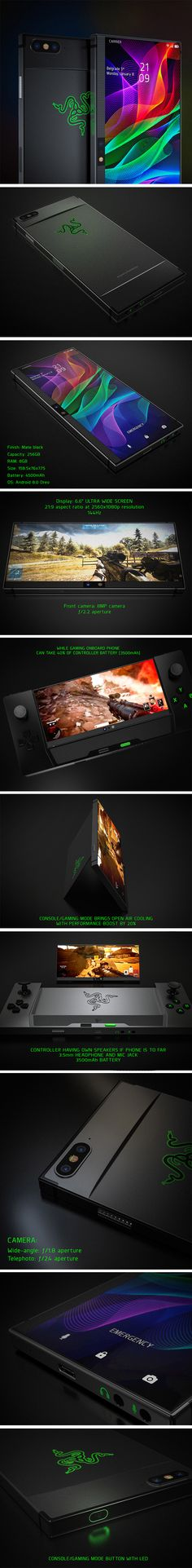 The original Razer was aptly named for being the first truly ultra-thin phone and, despite it being unibody, Petar Trlajic's modern Razer 2.0 concept is no exception. There are purists out there who will still prefer the thin-flip style of the original, but they might also be enticed by the 2.0's equally flickable screen. This is a gamer's Razer and is packed with loads of features ideal for powering through your favorite strategy or action adventures.