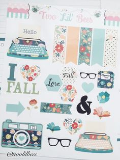 C020 // Fall Collection: I Love Fall Stickers - Decorating Kit Life Planner Stickers