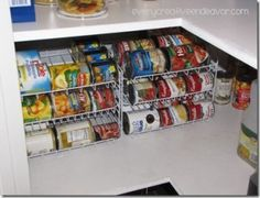 Love this idea for organizing canned goods