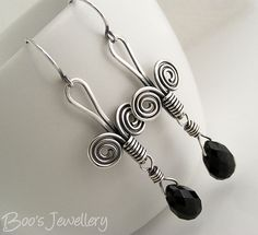 Sterling silver Egyptian coil earrings - 23528f by Boo's Jewellery, via Flickr