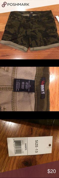 Red Rivet Camo Shorts Red Rivet Camo Shorts. New Shorts Skorts