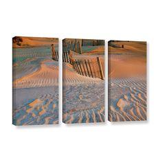 ArtWall Steve Ainsworth 'Dune Patterns Ii' 3 Piece Gallery-wrapped Set